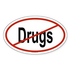 DRUGS Oval Decal