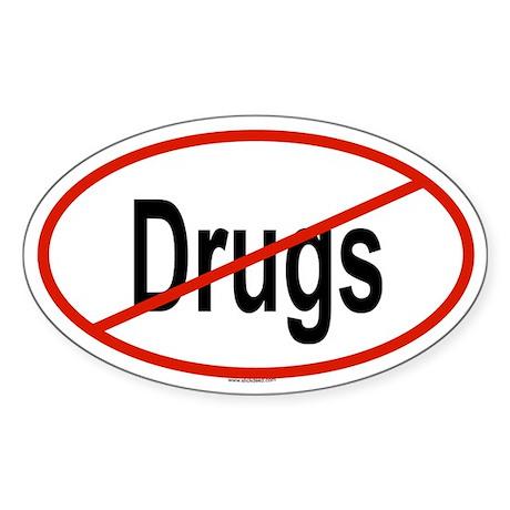 DRUGS Oval Sticker