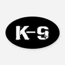 Police: K-9 Dog Handler Oval Car Magnet