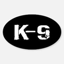 Police: K-9 Dog Handler Sticker (Oval)
