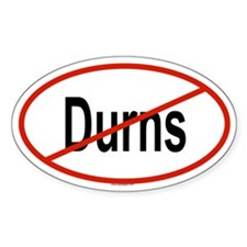 DURNS Oval Decal