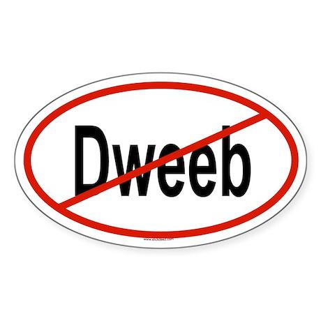 DWEEB Oval Sticker