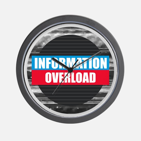 Information Overload Wall Clock