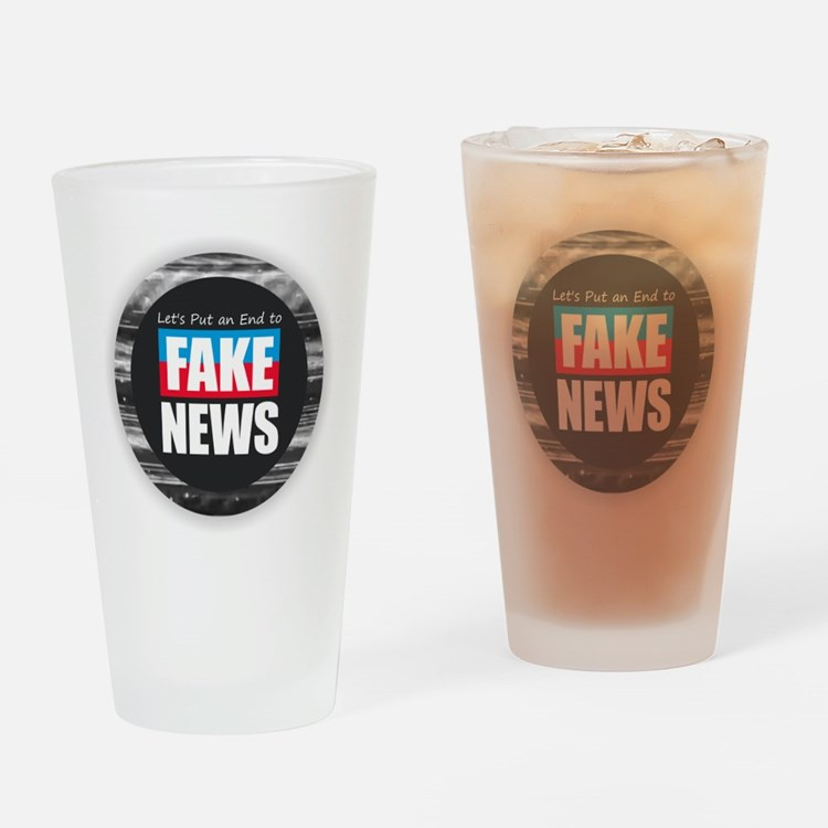 End Fake News Drinking Glass