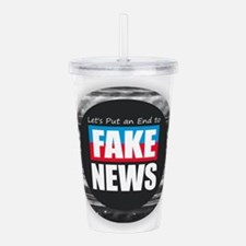 End Fake News Acrylic Double-wall Tumbler