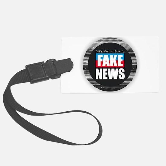 End Fake News Luggage Tag