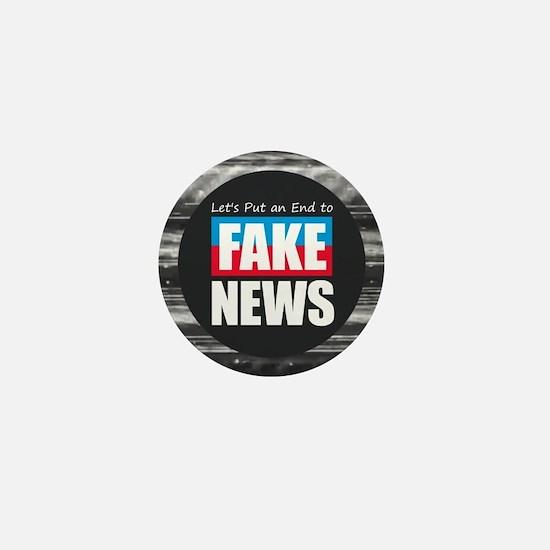 End Fake News Mini Button