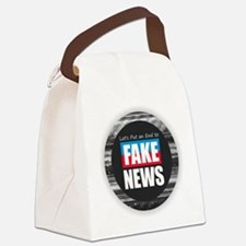 End Fake News Canvas Lunch Bag