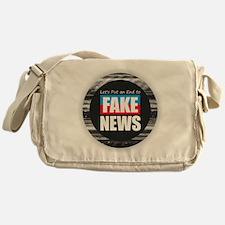 End Fake News Messenger Bag