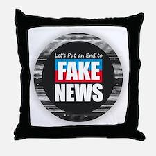 End Fake News Throw Pillow