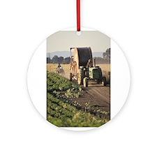 Tractor In The Sun Ornament (Round)