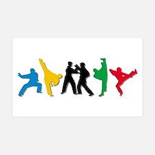 Tae Kwon Do Kicks Wall Decal Sticker