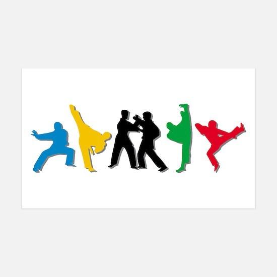 Tae Kwon Do Kicks Wall Sticker