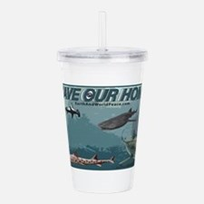 Save Our Home: Sharks Acrylic Double-wall Tumbler