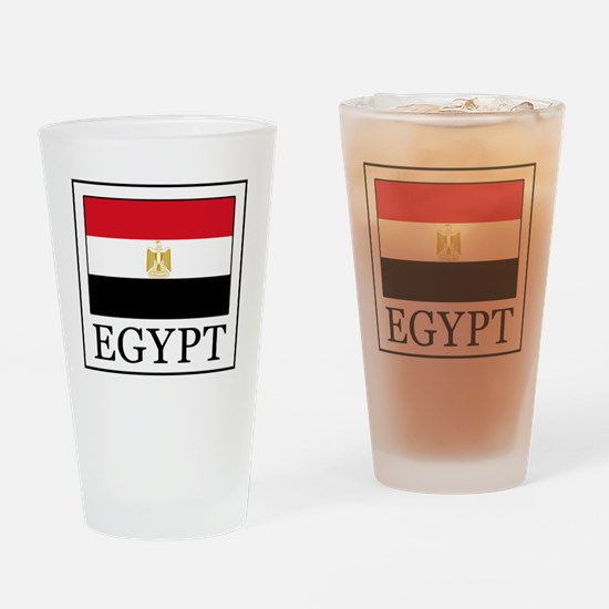 Cute Egyptian flag Drinking Glass