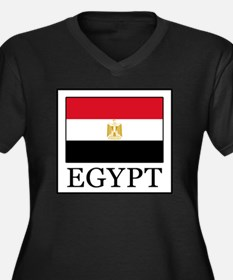 Cute Proud to be egyptian Women's Plus Size V-Neck Dark T-Shirt