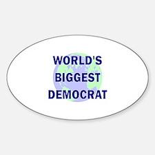 World's Biggest Democrat Oval Decal