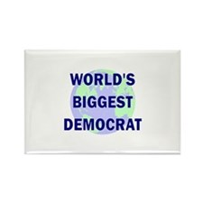 World's Biggest Democrat Rectangle Magnet