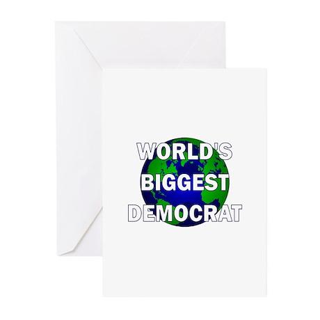 World's Biggest Democrat Greeting Cards (Pk of 10)