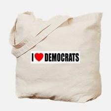 I Love Democrats Tote Bag