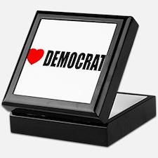 I Love Democrats Keepsake Box