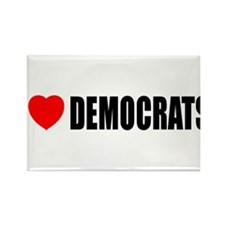 I Love Democrats Rectangle Magnet