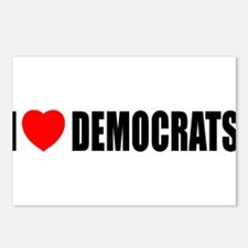 I Love Democrats Postcards (Package of 8)