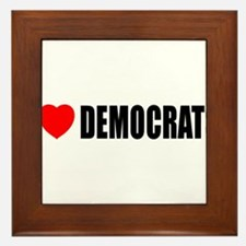 I Love Democrats Framed Tile