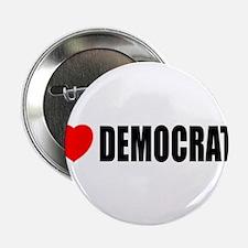 """I Love Democrats 2.25"""" Button"""