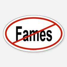 FAMES Oval Decal