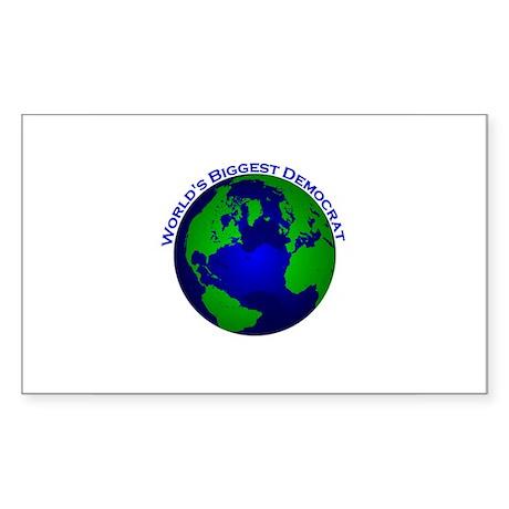 World's Biggest Democrat Rectangle Sticker