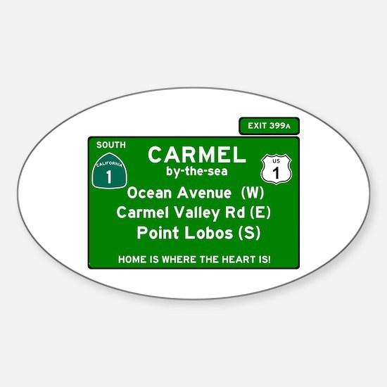 HIGHWAY 1 SIGN - CALIFORNIA - CARMEL - OCE Decal