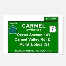 HIGHWAY 1 SIGN - CALIFORN Postcards (Package of 8)
