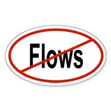 FLOWS Oval Decal