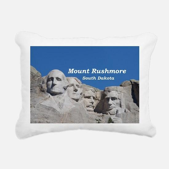 Mount Rushmore Rectangular Canvas Pillow