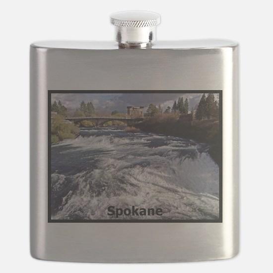 Spokane River Upper Falls Flask