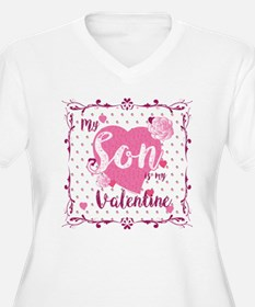 My Son Is My Valentine Plus Size T-Shirt