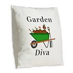 Garden Diva Burlap Throw Pillow