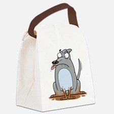 Silly Dog Canvas Lunch Bag