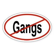 GANGS Oval Decal