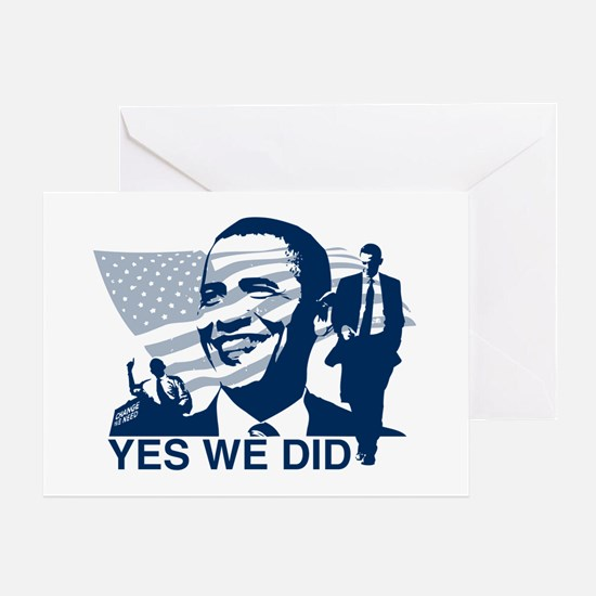 Obama Yes We Did Greeting Cards