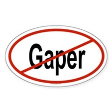 GAPER Oval Decal