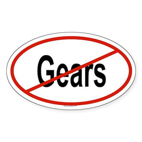 GEARS Oval Sticker