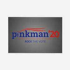 Pinkman Rock the Vote Rectangle Magnet