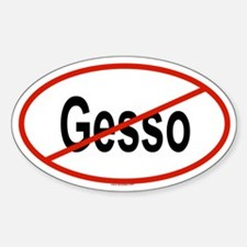 GESSO Oval Decal