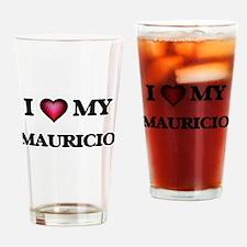 I love Mauricio Drinking Glass