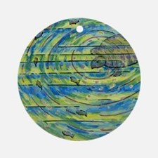 Cool Colorful turtle Round Ornament