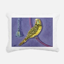 Cool Yellow budgie Rectangular Canvas Pillow