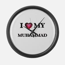 I love Muhammad Large Wall Clock