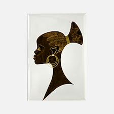 Cute Womans head Rectangle Magnet